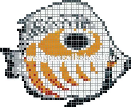 Trópusi hal üvegmozaik medence mozaik kép 03