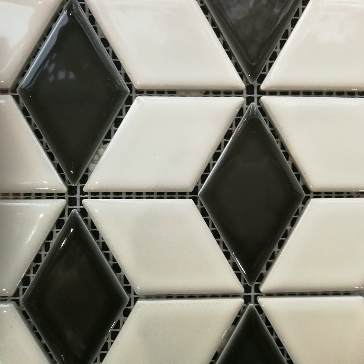 ROYAL BLACK & WHITE ROMBUS MOZAIK